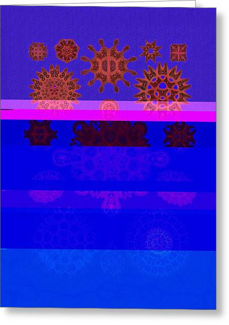 Red And Blue Algae Greeting Card by Diane Addis