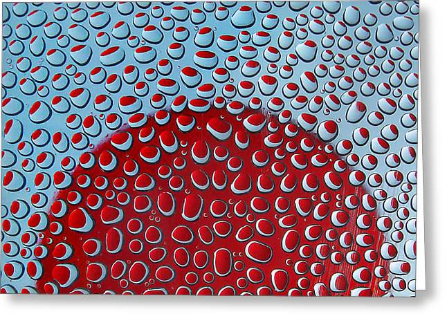 Red  And Blue Drops Greeting Card by Vladimir Kholostykh