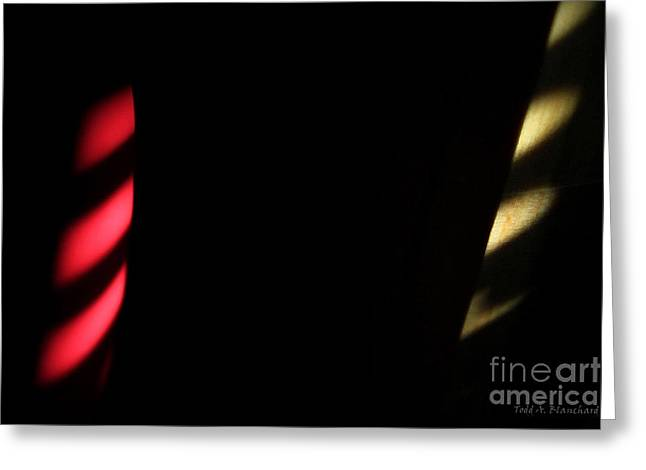 Greeting Card featuring the digital art Red And Yellow by Todd Blanchard