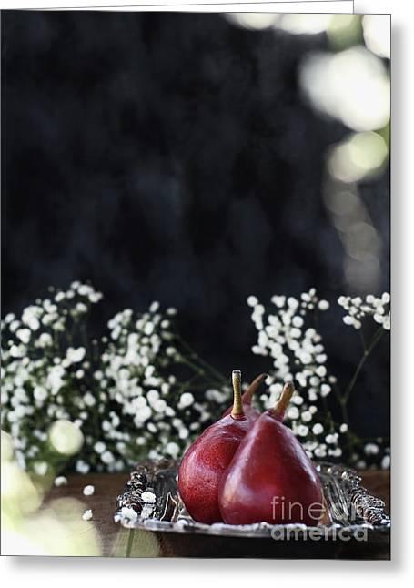 Red Anjou Pears Greeting Card by Stephanie Frey