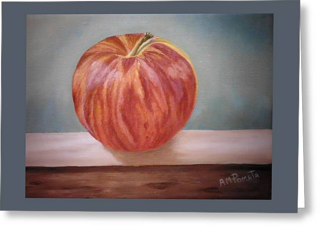 Red Apple Greeting Card by Angeles M Pomata