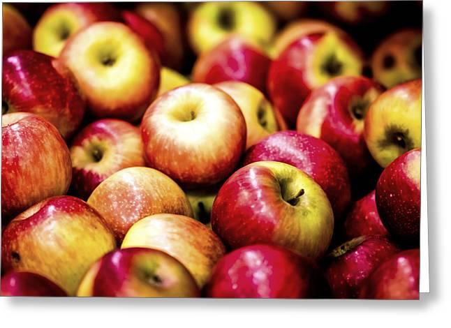 Red Apple Greeting Card by Jijo George