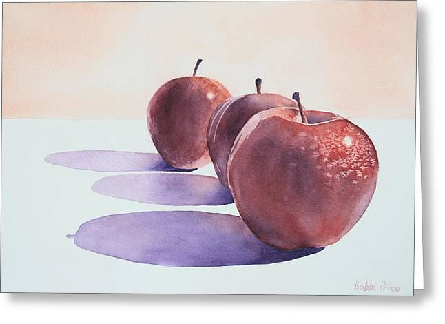 Red Apples Greeting Card by Bobbi Price