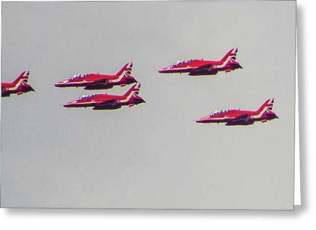 Red Arrows Greeting Card by Martin Newman