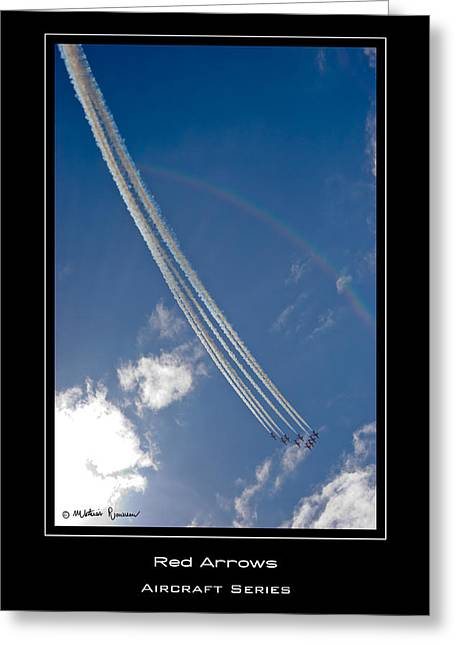 Red Arrows Greeting Card by Mathias Rousseau