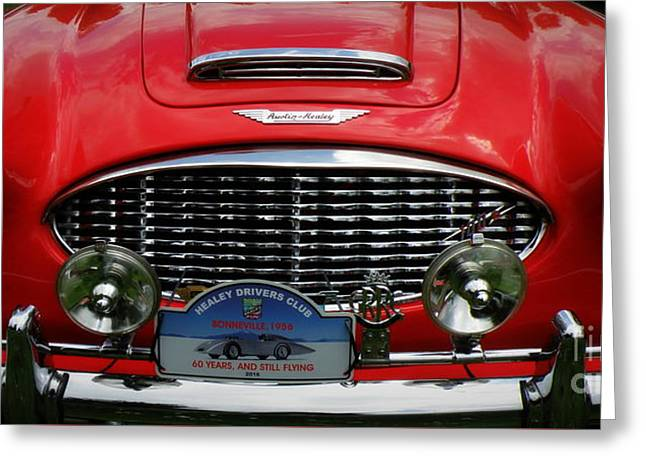 Red Austin Healey Greeting Card by Lainie Wrightson