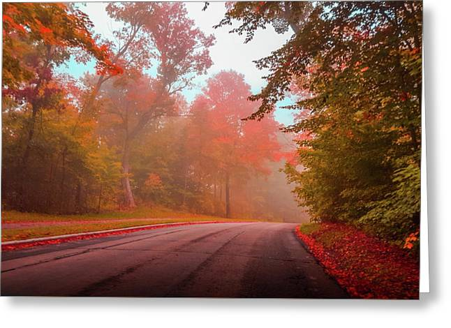 Red Autumn Greeting Card by Art Spectrum