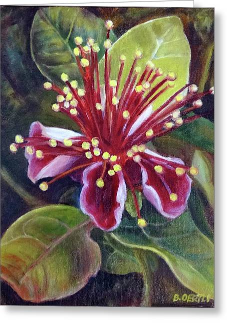 Pineapple Guava Flower Greeting Card