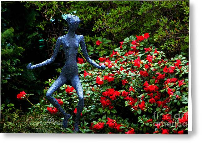 Greeting Card featuring the photograph Red Azalea Lady by Susanne Van Hulst