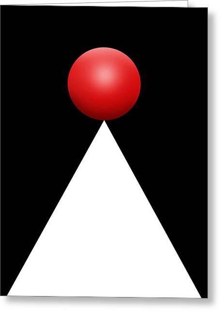 Red Ball 28b V Greeting Card by Mike McGlothlen