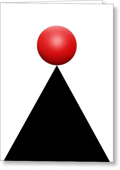 Red Ball 28c V Greeting Card by Mike McGlothlen
