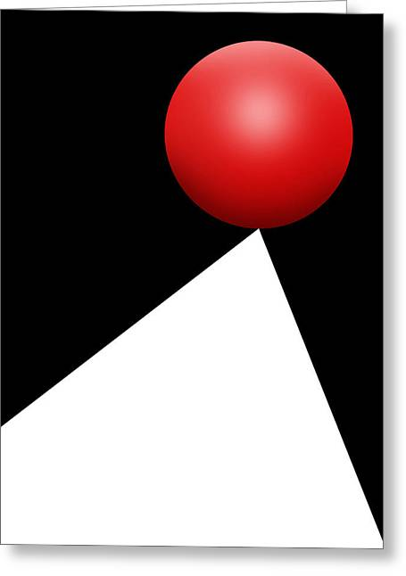 Red Ball S Q 10 Greeting Card
