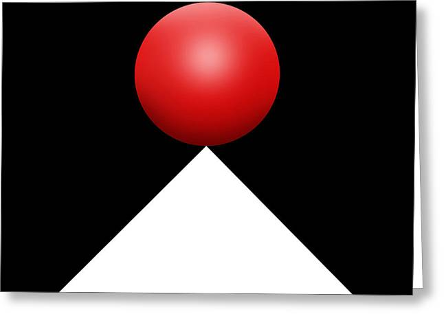 Red Ball S Q 3 Greeting Card