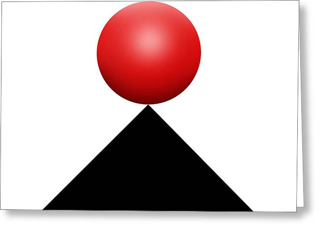 Red Ball S Q 4 Greeting Card