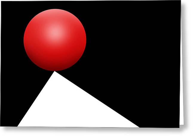 Red Ball S Q 5 Greeting Card