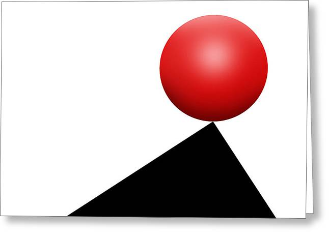 Red Ball S Q 6 Greeting Card