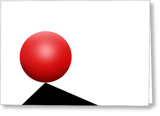 Red Ball S Q 7 Greeting Card