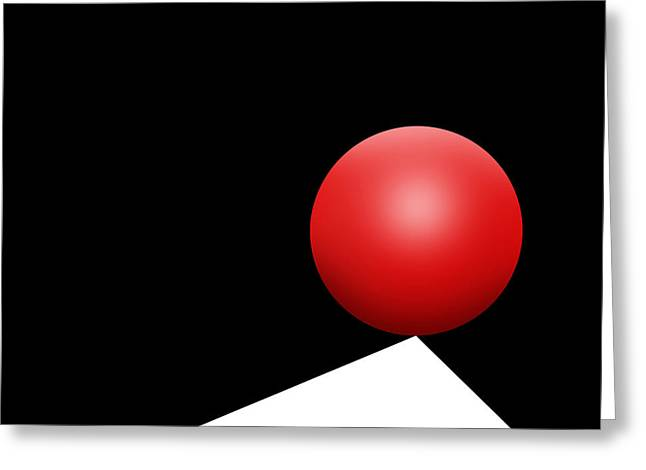 Red Ball S Q 8 Greeting Card