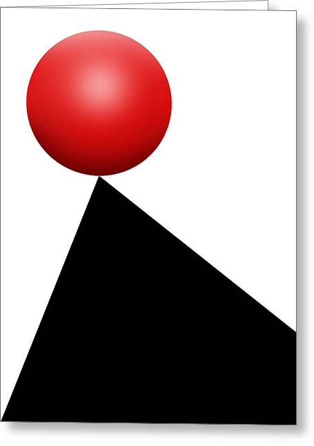 Red Ball S Q 9 Greeting Card by Mike McGlothlen