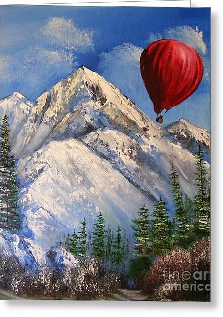 Red Balloon  Greeting Card by Crispin  Delgado