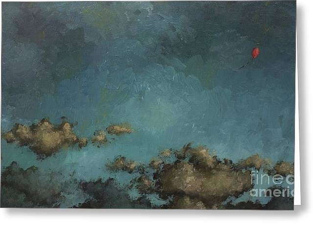Red Balloon Greeting Card by Robin Coomans