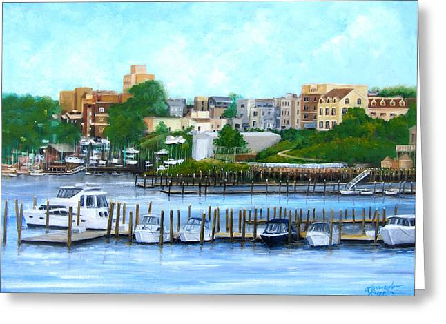 Red Bank From The Molly Pitcher Hotel Greeting Card