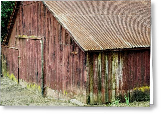 Red Barn Artistic Greeting Card