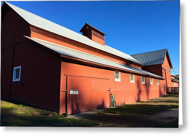 Red Barn, Blue Sky Greeting Card
