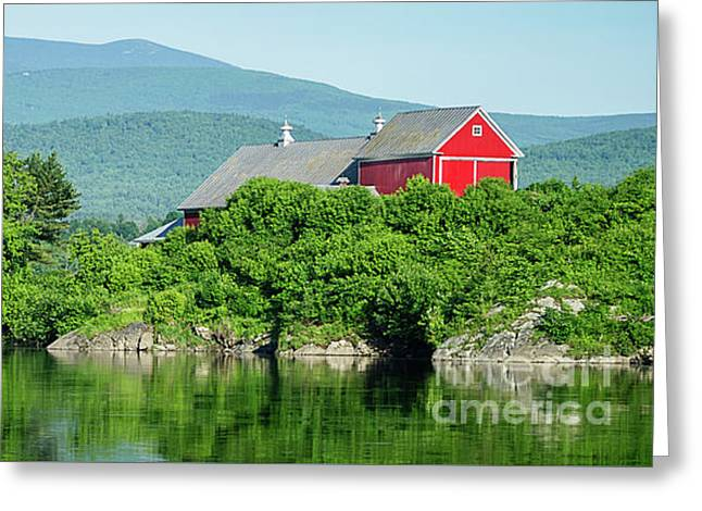 Red Barn Connecticut River Mug Greeting Card