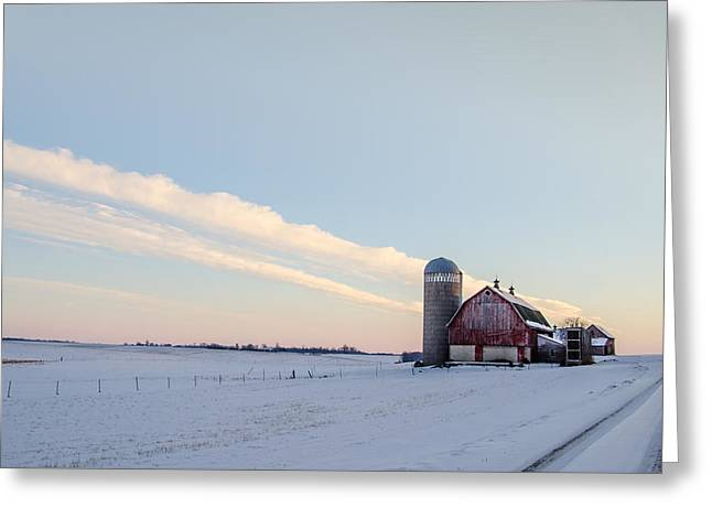 Greeting Card featuring the photograph Red Barn by Dan Traun