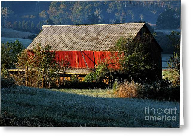 Red Barn Greeting Card by Douglas Stucky