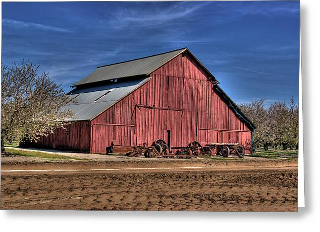 Greeting Card featuring the photograph Red Barn by Jim and Emily Bush