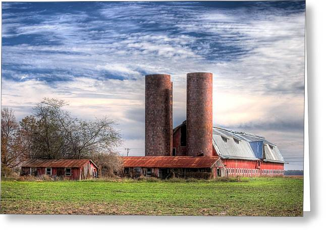 Red Barn II Greeting Card by Michael Taylor