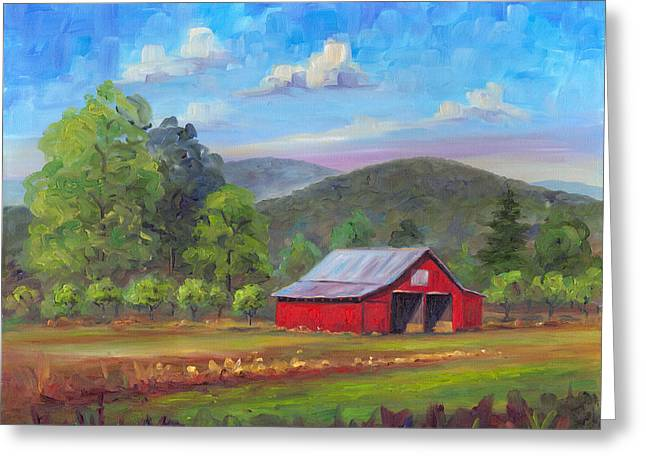 Red Barn In Fruitland Greeting Card by Jeff Pittman