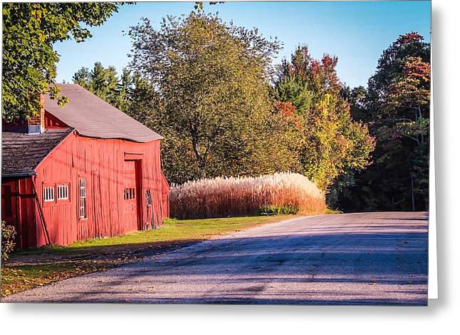 Red Barn In The Country Greeting Card