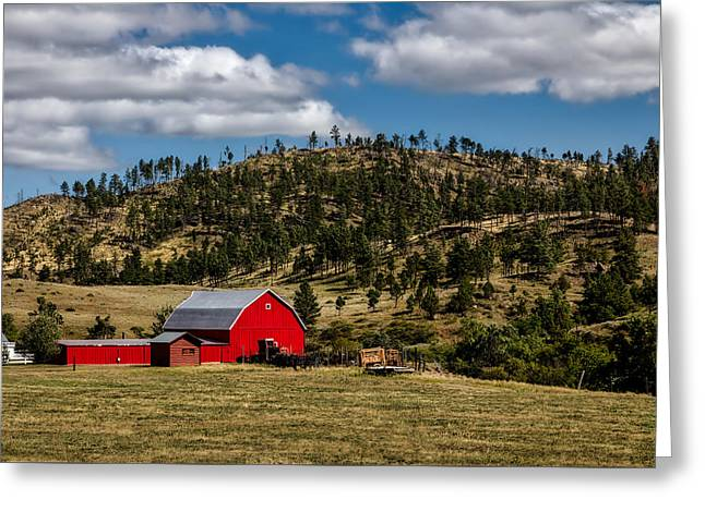 Red Barn In Wyoming Greeting Card by Mountain Dreams