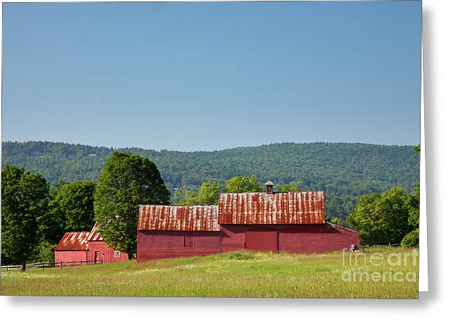 Greeting Card featuring the photograph Red Barn Near Quechee by Susan Cole Kelly