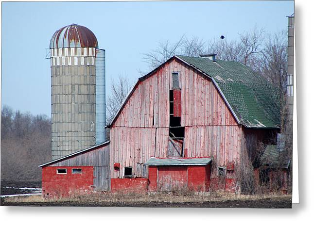 Red Barn On Texas Avenue Greeting Card by Mary Pearson