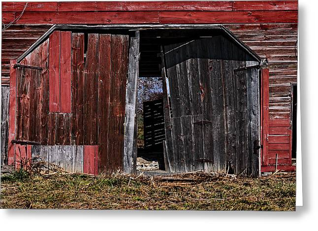 Red Barn Side Greeting Card