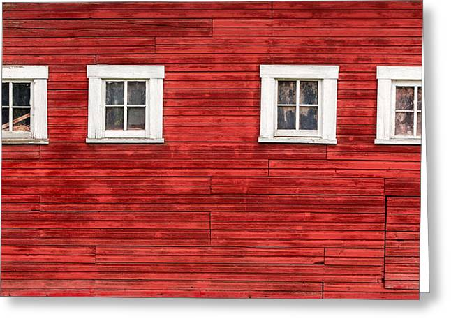 Red Barn Side Greeting Card by Todd Klassy