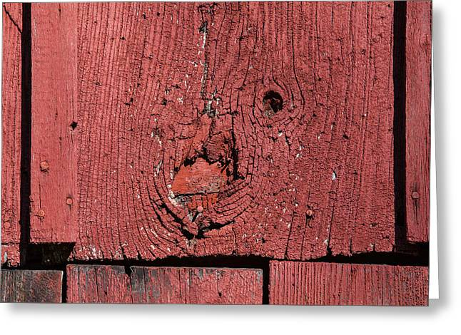 Red Barn Wood Greeting Card