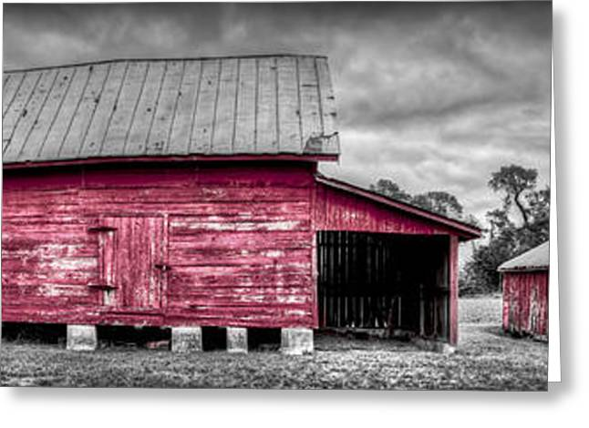 Red Barns At Windsor Castle Greeting Card