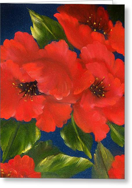 Red Beauty Greeting Card by Joni McPherson