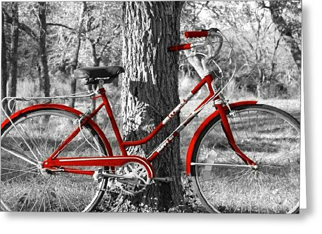 Red Bicycle II Greeting Card