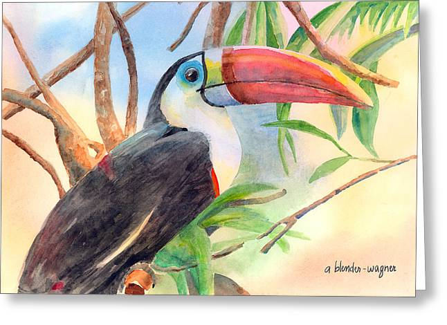 Red-billed Toucan Greeting Card by Arline Wagner