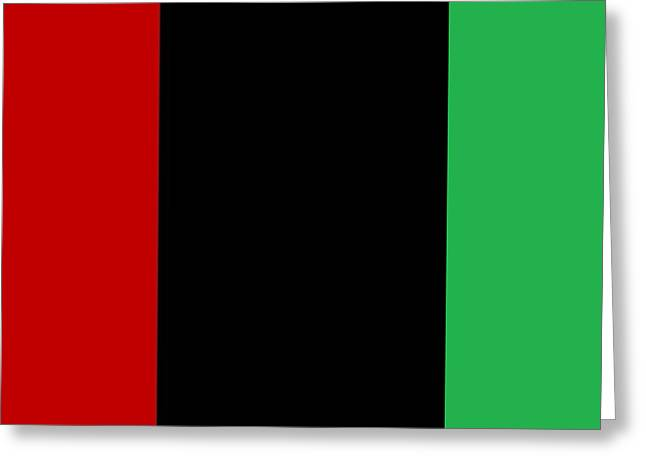 Red Black And Green Greeting Card