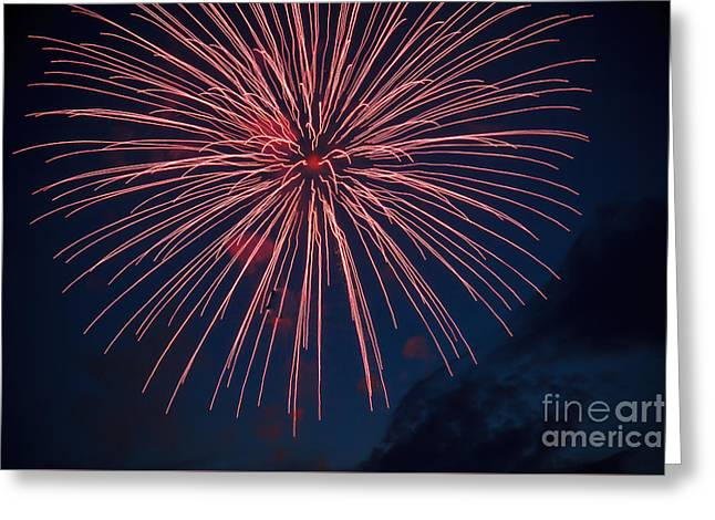 Red Blast Greeting Card by Robert Bales