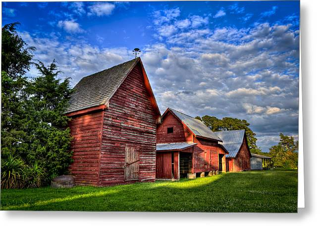 Red Blue And Green Barns At Windsor Castle Greeting Card by Williams-Cairns Photography LLC