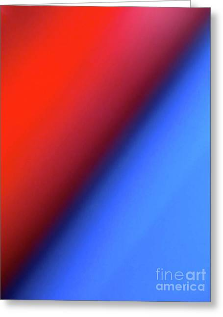 Red Blue Greeting Card
