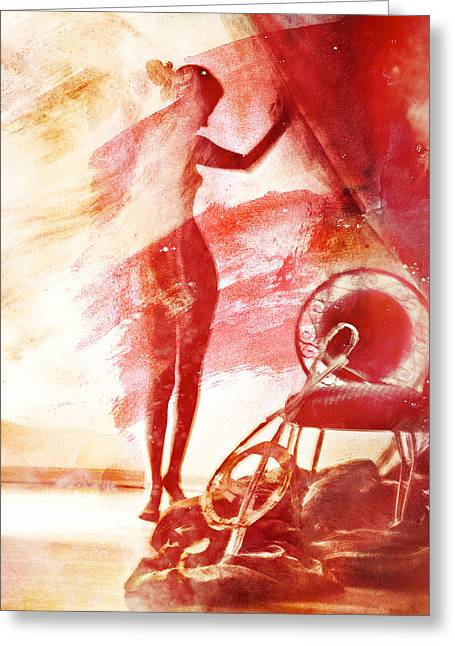 Red Blues Greeting Card by Mark-Meir Paluksht